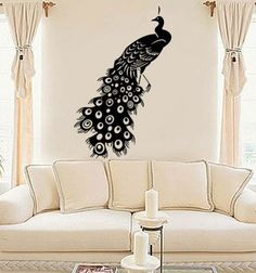 Wall Art Home Decors Murals Vinyl Decals Stickers Beautiful Peacock By  Walldecors On Etsy   Stylehive Part 64