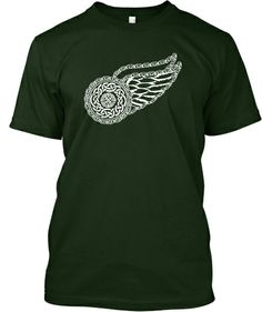 This is so totally the Detroit Red Wings logo made Celtic. Irish Celtic Winged Wheel Design | Teespring