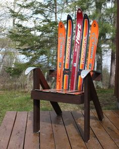 Picture of Build a Lawn Chair from Recycled Skis - the Ski Chair!