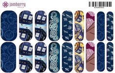 Custom Dr. Who Jamberry nails! http://amandagibson.jamberrynails.net/