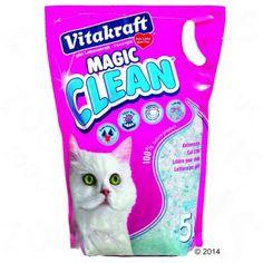 Vitakraft Magic Clean Silicaat kattenbakvulling, groene kliko!