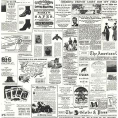 "American Headline News 33' x 20.5"" Wallpaper"