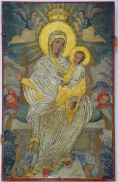 Virgin Mary with baby Jesus icon