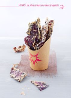 My Sweet Faery: Chips de chou rouge en sauce piquante - Raw spicy red cabbage chips