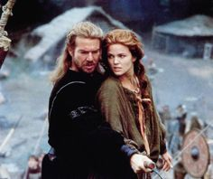 Dennis Quaid & Dina Meyer in Dragonheart