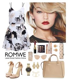 """Romwe 4"" by amra-f ❤ liked on Polyvore featuring Jimmy Choo, MANGO, Badgley Mischka, Marc by Marc Jacobs, Maybelline, Cutler and Gross, Accessorize, Tory Burch and Bobbi Brown Cosmetics"