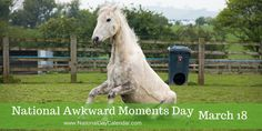NATIONAL AWKWARD MOMENTS DAY On March 18th, werecognize National Awkward Moments Day. This is an annual day that every person can relate to as we have all had our own awkward moments from time to…