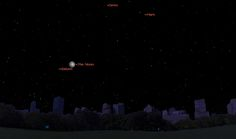This sky map shows the location of Saturn and the moon at 9 p.m. on Tuesday, May 13, 2014, as seen from mid-northern latitudes. The locations of planet Mars and Ceres, the largest asteroid in the asteroid belt, are also shown.