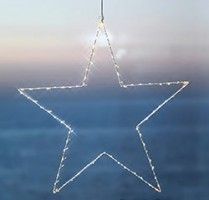 This simple and elegant large Liva fairy light star by Sirius, is made up of 80 warm and soft LED lights securely wrapped around a white metal star