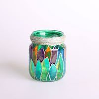 3  #winter #wintermagic #art #interior #interiordesign #candles #newyear #lights #jars #unique #handmade