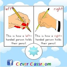 FREE Pencil Grip Poster - PDF file1 page freebie designed by Clever Classroom.This poster can be displayed in the writing center or on the ...