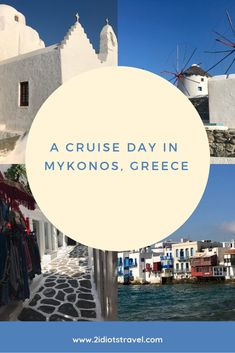 Mykonos is an incredible destination to visit on a cruise day. Get a comprehensive itinerary from The 2 Idiots and spend your day in Mykonos the right way! Greece Cruise, Mykonos Greece, Beautiful Streets, Taking Pictures, Cruises, It's Easy, Exploring, The Good Place, Traveling