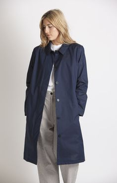 Norse Projects Lotte Light Indigo Coat - Outerwear