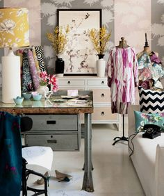 Loving all the colors. Want my design/art/craft studio to look something like this.