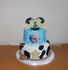 woody-Frozen-Mickey themed cake