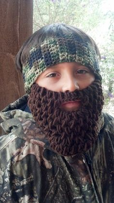 Duck Dynasty Beard and Headband Child or Adult by HolyNoggins, $25.00