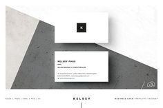 Creative Market Business Card - Kelsey by bilmaw creative on @creativemarket A minimal multipurpose business card template, 'Kelsey' is perfect for your next project or brand identity. Can be used for personal or company branding, advertising, events, launches, calling cards, invites and much more… All artwork and text is fully customisable; edit the typography, wording, colors and layout.