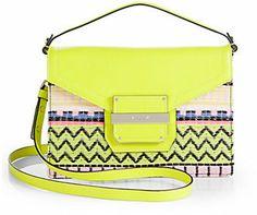 Milly Rich Neon Jacquard Crossbody Bag on shopstyle.com