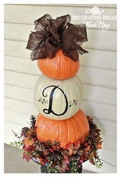 Fall Pumpkin Topiary traditional