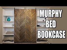 (89) Murphy Bed DIY With Modern Farmhouse Style Barn Door - YouTube