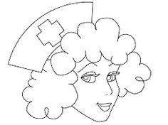 Dibujo para colorear enfermera  Dibujos pintar  Pinterest