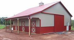 Horse Barn with Lean-To :: Customer Projects March 2011 :: APM Pole Building & Garage Kits