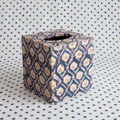 Ella Indigo Tissue Box – Les Indiennes Tissue Box Covers, Tissue Boxes, Facial Tissue, Decoupage, Indigo, Messages, Art, Art Background, Indigo Dye