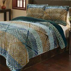 Savoy Velvety Soft Ombre Mini Comforter Set