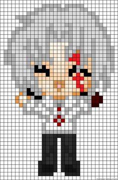 Allen Walker - D.Gray-man Perler Bead Pattern