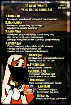 10 sifat wanita yang harus dihindari