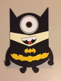 Batman Minion Punch Art Invitation Minion Birthday Card, Minion Card, Kids Birthday Cards, Boy Cards, Kids Cards, Minion Superhero, Minions, Minion Invitation, Minion Halloween
