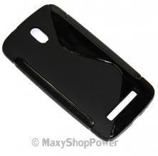 SSYL CUSTODIA IN SILICONE S-LINE COVER TPU CASE PER HTC DESIRE 500 NERA BLACK NEW NUOVA - SU WWW.MAXYSHOPPOWER.COM