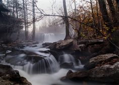 Better Late...Then Never by Tim Zimmerman on Capture Arkansas // Falling Water Falls with the last vestiges of fall color barely holding on.