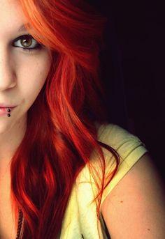 red/orange hair