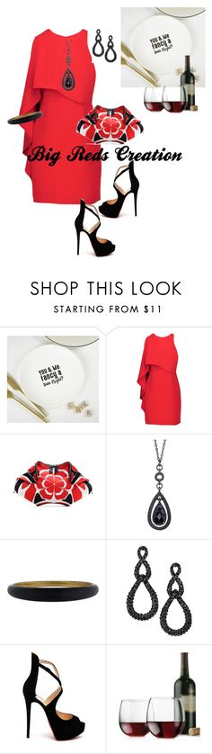 """Date Night 2"" by bigreds ❤ liked on Polyvore featuring TillieMint Loves, Halston Heritage, Alexander McQueen, 1928, Alexis Bittar, INC International Concepts, Christian Louboutin and Libbey"