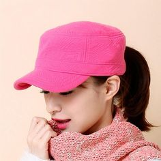 [AETRENDS] 2016 New Winter Outdoor Sport Flat Hats for Women 100% Cotton Baseball Cap Z-3894