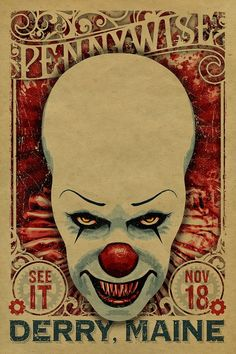 Marvel Movie Posters Meme, Traditional Movie Poster Size without Movie Credits On A Poster wherever Movie Poster Footer Font behind Marvel Movie Poster Spiderman Horror Movie Posters, Marvel Movie Posters, Horror Movies, Pennywise The Clown, Pennywise Poster, Image Film, Deco Retro, Culture Pop, Scary Clowns