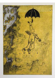 """Swept away' Solarplate print by Sol @ www.aphic.com"