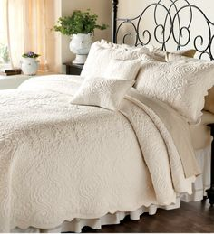 Decorative Pillows on sale for $24.9 each Olivia Trapunto Quilted Cotton Bedding