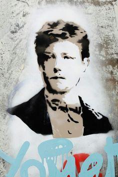 Rimbaud by Nice art - street art - Paris 11 - rue de la folie méricourt
