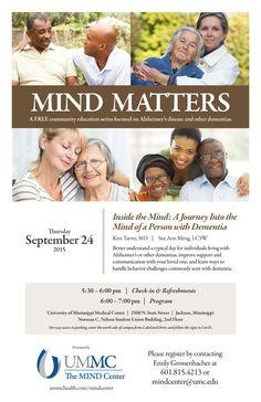 UMMC The MIND Center - MIND Matters Community Education Series -Poster (Sept. 2015)