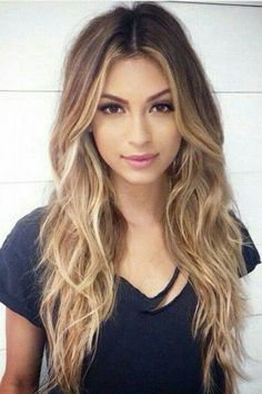 Dark Brown to Blonde Ombre Color http://eroticwadewisdom.tumblr.com/post/157383594317/hairstyle-ideas-im-in-love-with-this-hair-color