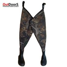 Shipping Free hunting Custom camouflage waders fishing waders tailor made fishing boots hunting boots rubber hip wader OUTDOOR