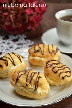 ptysie Polish Recipes, Pancakes, Muffin, Cooking Recipes, Cookies, Breakfast, Sweet Dreams, Bakken, Essen