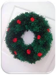 christmas pom pom wreath - Google Search