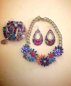Completo collana,braccialetto, orecchini