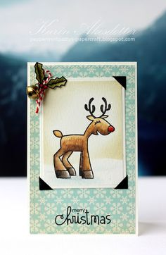 Winter Cards, Holiday Cards, Christmas Cards, Christmas Holiday, Holiday Ideas, Reindeer Photo, Simply Stamps, Christmas Challenge, Peppermint Patties