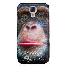 African Chimpanzee Wildlife Supporter iPhone Case Samsung Galaxy S4 Case by Skye Ryan-Evans