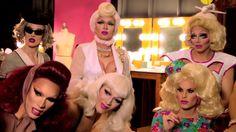 Max, Pearl, Trixie Mattel, Miss Fame, Violet Chachki, and Katya, RPDR 7, Season Premiere.