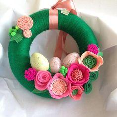 #springisintheair easter yarn wreath